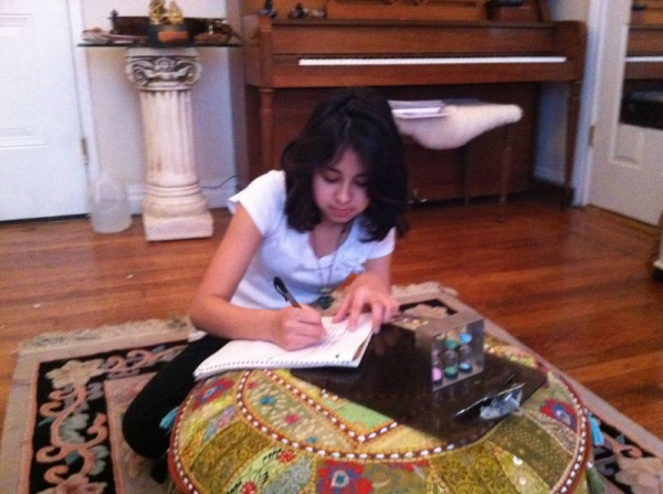 A vocal student progressed to songwriting lessons!