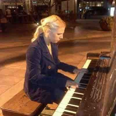 Playing in downtown Denver