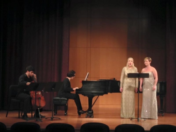 Singing with a colleague and friend in a recital