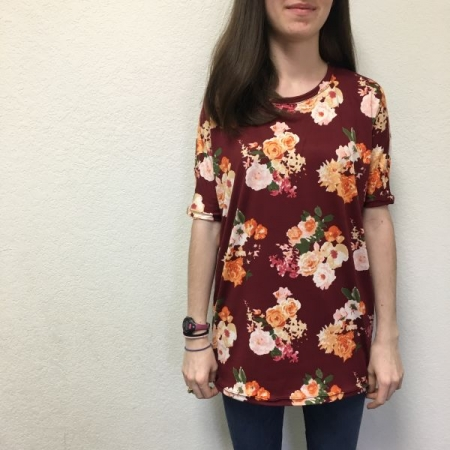 Fall 2018 homeschool student in self-drafted tee