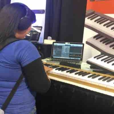 NAMM Show 2019 Playing the same keyboard right after Stevie Wonder!