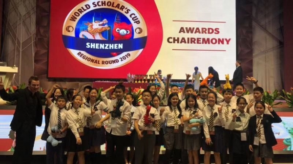 My students in China sweeping with trophies in their essay contest. So proud.