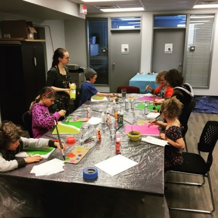community hall kids class with my assistant Jess.  Criminal Record Check can be provided upon request