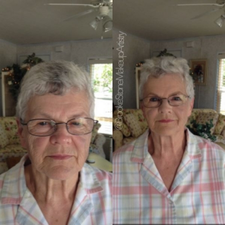 Before/After of my lovely dear friend. We brought out her beautiful blue eyes and fixed some discoloration.