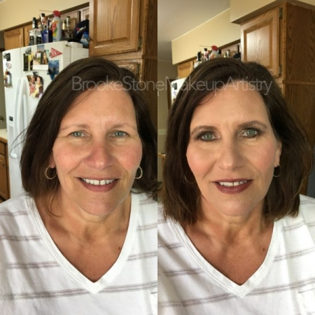 Beautiful mother-of-the-bride makeup trial makeup. Such a lovely person to work with.