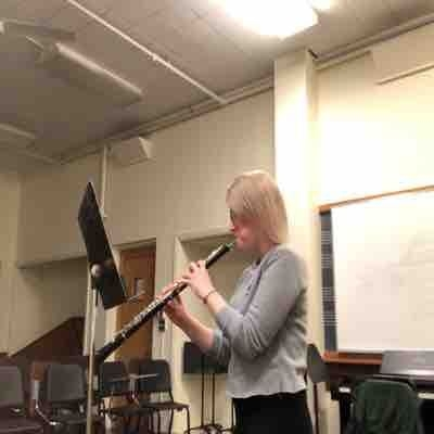 Me playing the oboe.