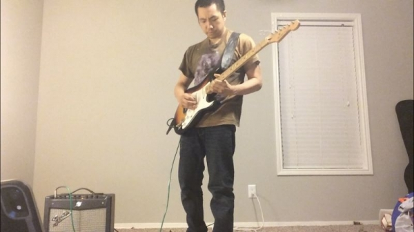 Practicing for an audition last year.