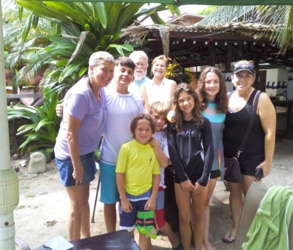 One of my full Spanish Immersion groups of students that I  taught in Costa Rica.  Learning Spanish:  Fun for the Whole Family!