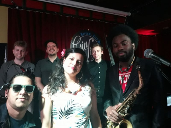 Playing with my Quintet at Gin Fizz Harlem