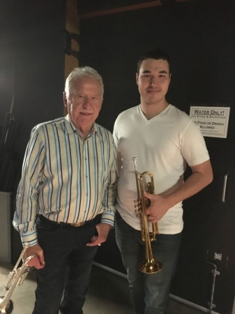 """Backstage with Carl """"Doc"""" Severinsen from The Tonight Show when I played with him"""