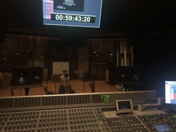 Recording solos for a USC Film