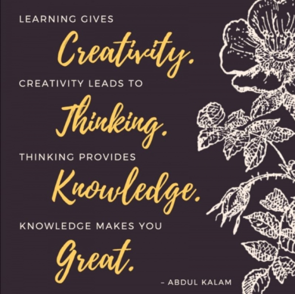 Creativity, Thinking, Knowledge, and Greatness!