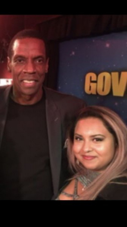 "NY METS DWIGHT GOODEN and Voice student,  ""Reeanna G"", BROADWAY show ""Batboy"""