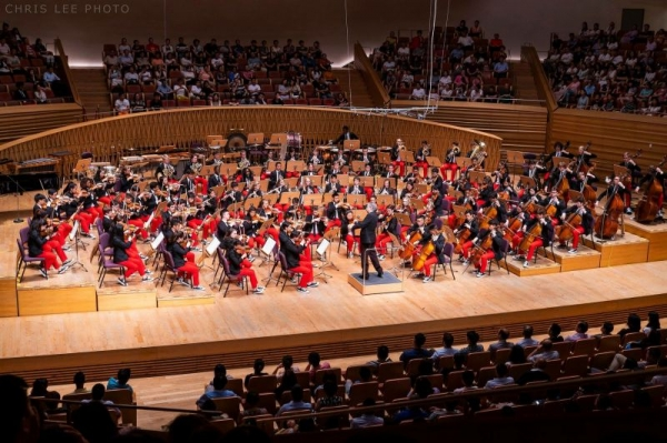 Performing with the National Youth Orchestra of the United States of America.