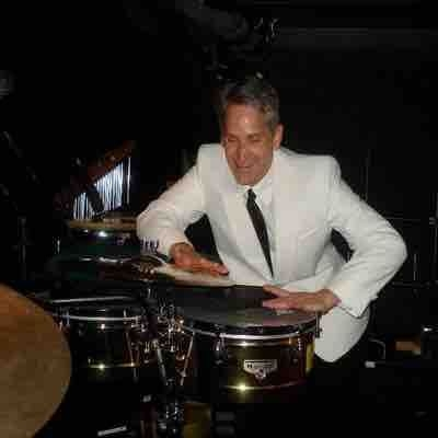 Playing around on Timbales before the Las Vegas Production show On Holland America Line ship (2008-2011). The drummer took the picture.
