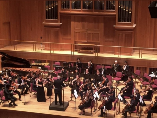 Performing in the Queens College Orchestra!