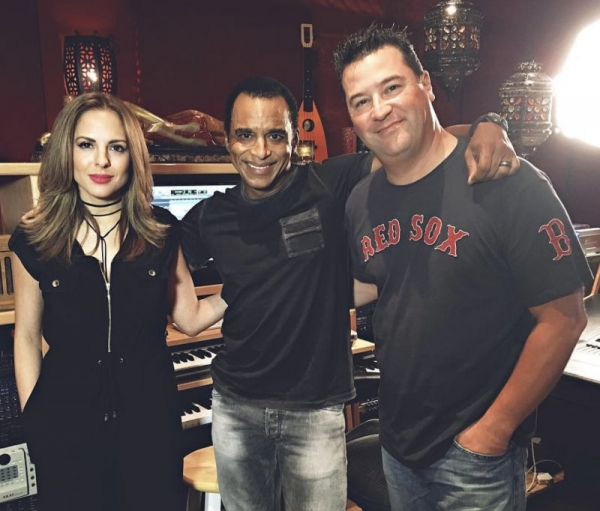 In studio with Jon Secada & Joel Someillan