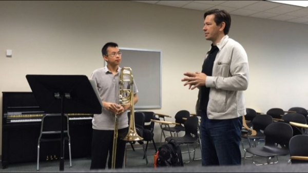 Lesson with George Curran, Bass Trombonist of the New York Philharmonic.