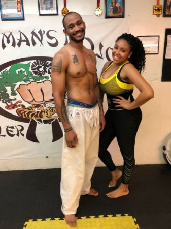 After Cardio Workout with on of my female students