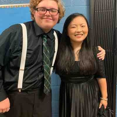This a picture of me and my friend Julie at our last concert for North Penn