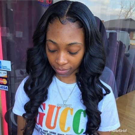 Weave extensions hand curled