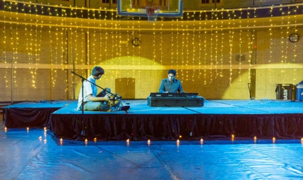 Performing Carnatic keyboard at Stevens Institute of Technology, fall 2015.