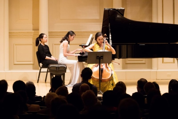 Meixu Lu, solo charity recital in Carnegie Hall in 2017.