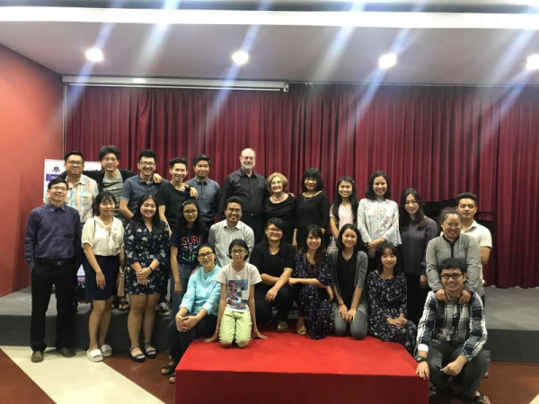 Performance for music school students and teachers in Myanmar, September 2018.