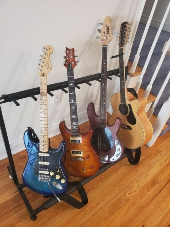 Guitars that I have available for teaching with