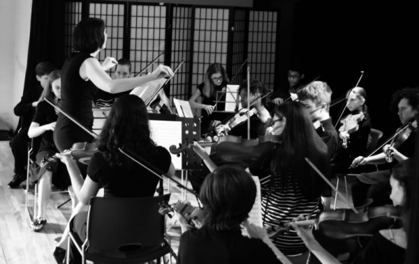This is the orchestra I started in Okinawa, Japan. The Okinawa Youth String Group.