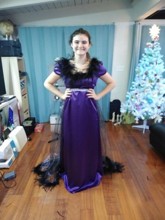 Satin dress for Theater competition.