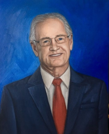 Oil portrait I painted of a man.