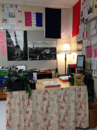 My French desk in my classroom.
