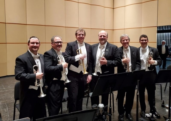 DPO Trumpets after performing Mahler's 1st Symphony.