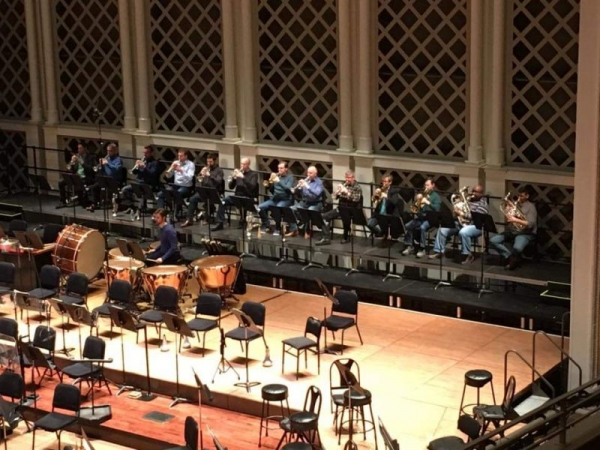 "Rehearsing for the Janacek ""Sinfonietta"" with the Cincinnati Symphony"