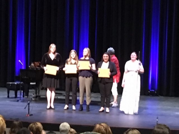 Student Carmen W., soprano, placed in the top five finalists at the 2018 NATS Valley of the Sun Chapter Competition in November!