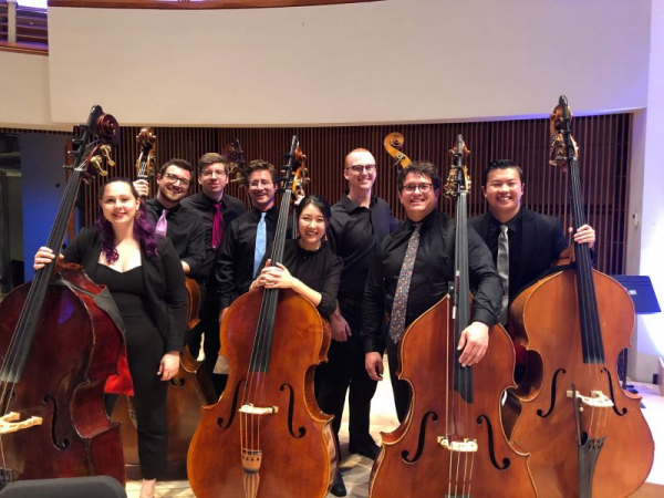 Bass Section at National Orchestral Institute + Festival 2019, post-Mahler No. 5!