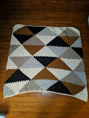 "Custom ""Love triangle"" afghan"