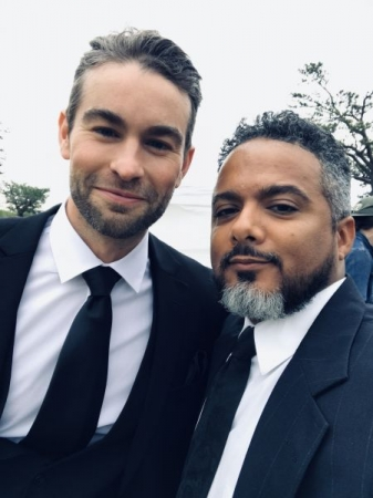 Actors Chace Crawford and Joe Herrera on set of feature film Inheritance