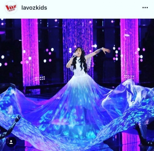 Custom made Super Long Sheer Skirt designed and made by yours truly Melissa George. (La Voz Kids -Telemundo_Season 4
