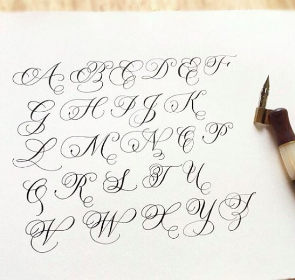 Copperplate with Flourishing Exemplar