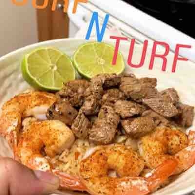 Come Cajun shrimp and Filet Mignon