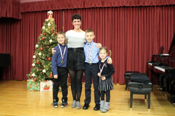 Three students who received First Class Honors with Distinction on their Royal Conservatory Exams in December 2018!