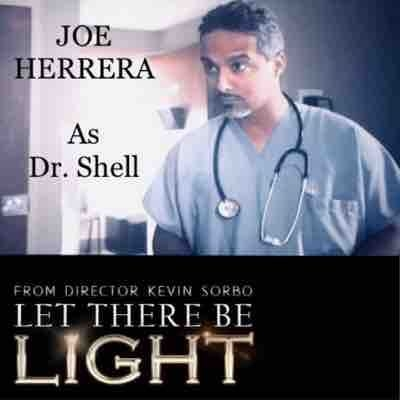 Photo still of Joe Herrera as Dr Shell in feature film, Let There Be Light