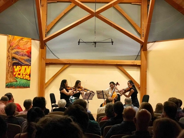 Performing Ravel String Quartet at the Yellow Barn Young Artists Program 2019.