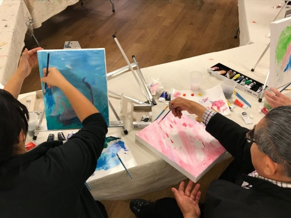 Queer Painting Workshop with SF Openhouse LGBT Senior Center 2018