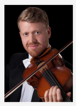 My headshot as Principal Viola of Augusta Symphony