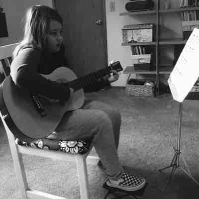 Learning to play melodies and chords.