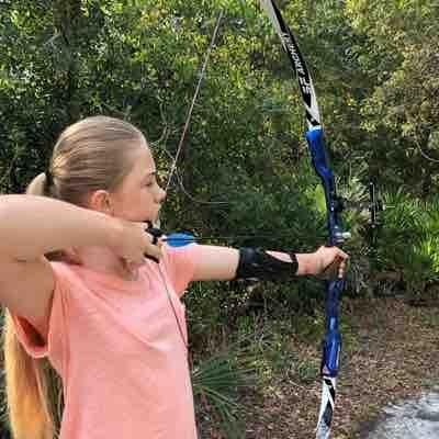 Beautiful form from a 13 year old student! She finally understand keeping her front shoulder down, and keeping a tight anchor!