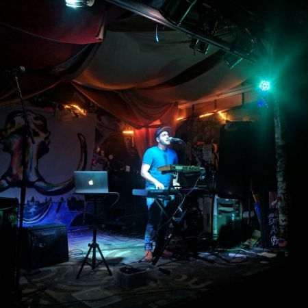 Playing a show at 7th circle music collective